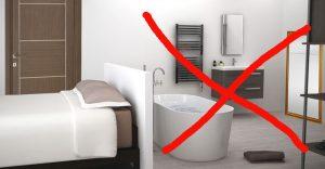 pas de salle de bain dans la chambre Feng Shui
