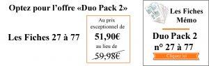 DUO Pack 27 à 77