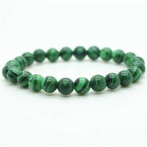 bracelet malachite - puissance des pierres